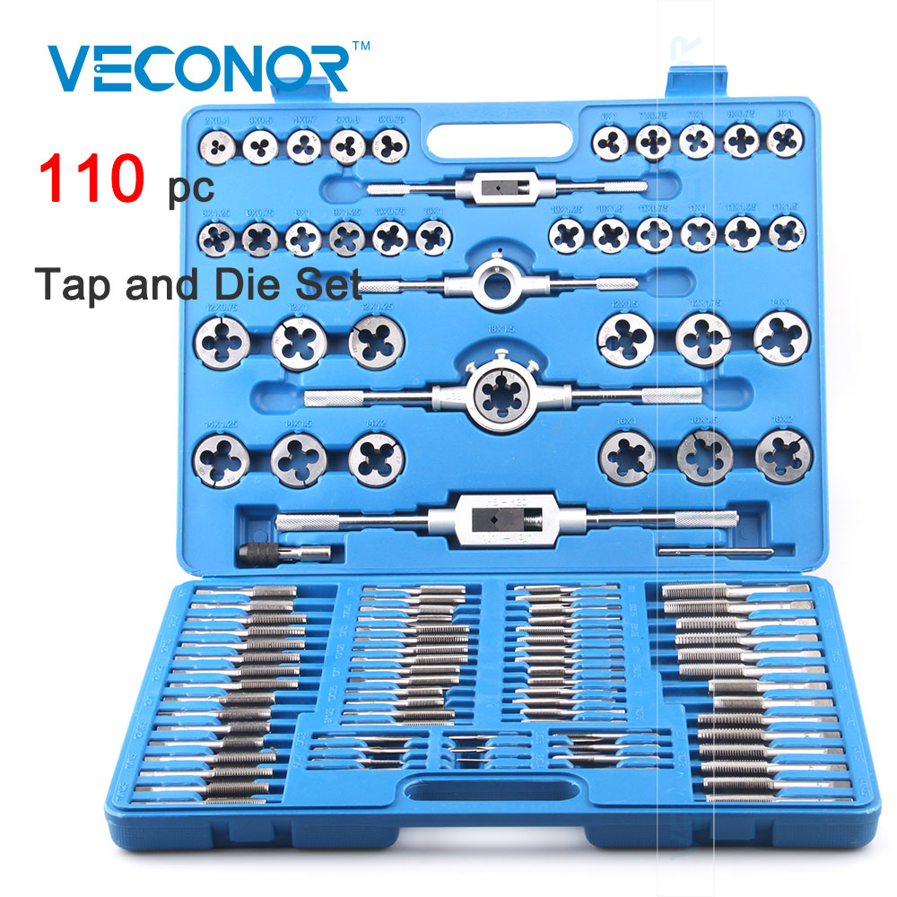 Veconor 110pcs tap and die set quality alloy steel tap and die kit for professional use kitqua37798saf7751gr value kit quality park clasp envelope qua37798 and safco e z sort steel mail sorter module saf7751gr