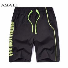 ASALI Mens Swimwear Quick Dry Short Pant 2019 Summer Unisex Surf Sports Beach Board Shorts Trunks Loose Cotton Pant Trousers(China)