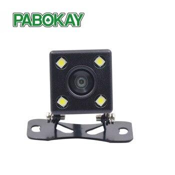 Retrovisor do carro Estacionamento Câmera Com HD Noite Luzes Led Para DVD Back up Reversa Vista Traseira Câmera de Estacionamento Com linha + seis metros de fio