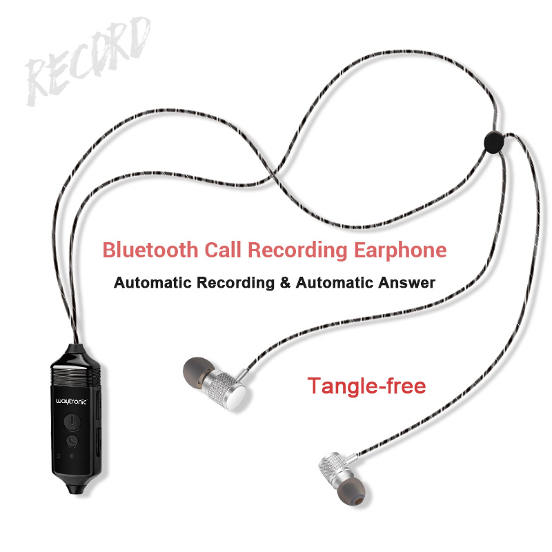 US $56 99 5% OFF|512MB Voice Call Recorder Bluetooth Earphone Headset for  iPhone Android Phone Conversation Incoming Calls Message Recording-in