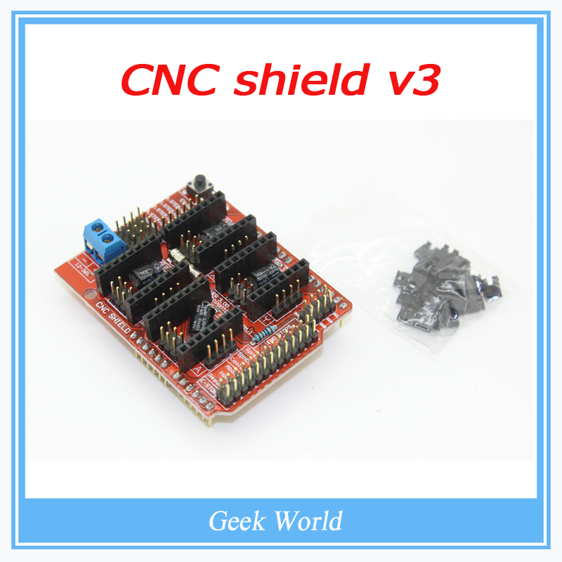 Free shipping! New cnc shield v3 engraving machine / 3D Printer / A4988 driver expansion board for Arduino