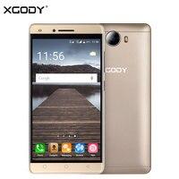 במלאי טלפון הנייד אנדרואיד נעול 5 Inch XGODY X11 3 גרם ליבת MTK6580 Quad 1 גרם + 8 גרם פלאש הקדמי 5MP טלפון הנייד Smartphone 2000 mAh
