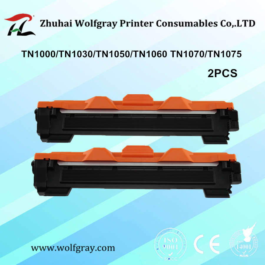YI LE CAI cartucho de toner compatible para Hermano 2PK TN1000 TN1050 TN1070 TN1075 HL 1110 HL-1110 TN-1000 TN-1050 TN-1075 TN 1075