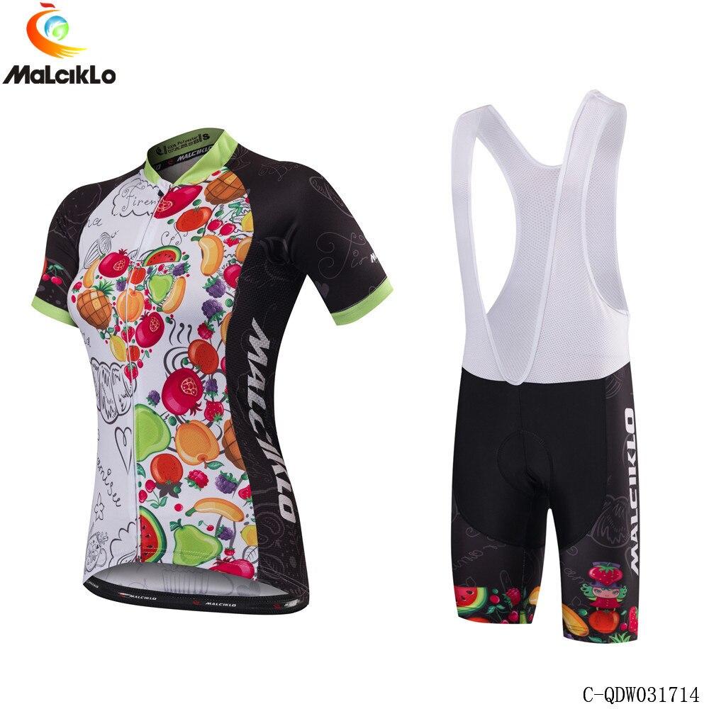 Women Cycling Jersey Set Summer Sport Cycling Clothing MTB Bike Bib Shorts Suit