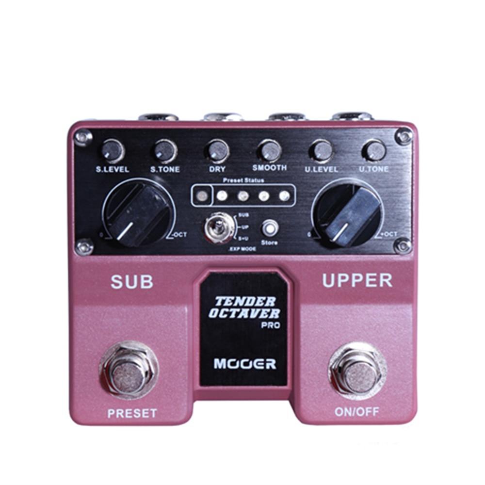 Mooer Tender Octaver Pro Guitar Effect Pedal Volume Tone Pitch Controls Sub Upper Octaves 4 User Presets Mono Audio Jack кальсоны user кальсоны