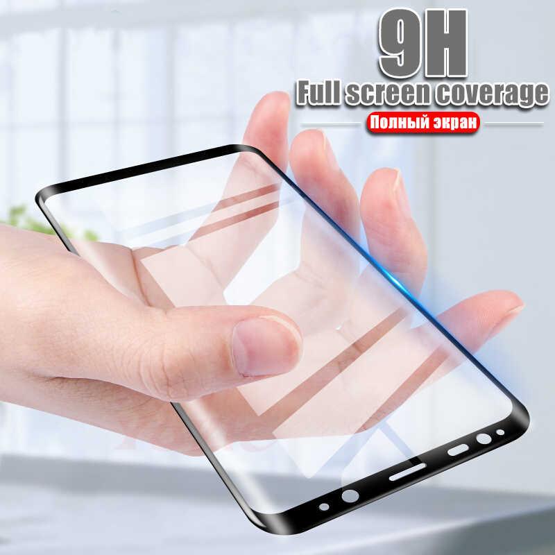 YOYIC 6D كامل منحني الزجاج المقسى لسامسونج غالاكسي S9 S8 زائد S6 S7 حامي شاشة بحافة ناتئة لسامسونج نوت 8 9 S9 Plus فيلم