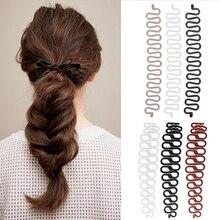 купить Big/Small Hair Braiding Tool Fish Bone Braider Roller Twist Styling Bun Maker Weave Roller Band Hair Styling Hair Accessories дешево