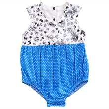 Pudcoco Infant Kid Toddler Baby Girl Clothes Summer Floral Dot Printing Bodysuit Jumpsuit Outfit