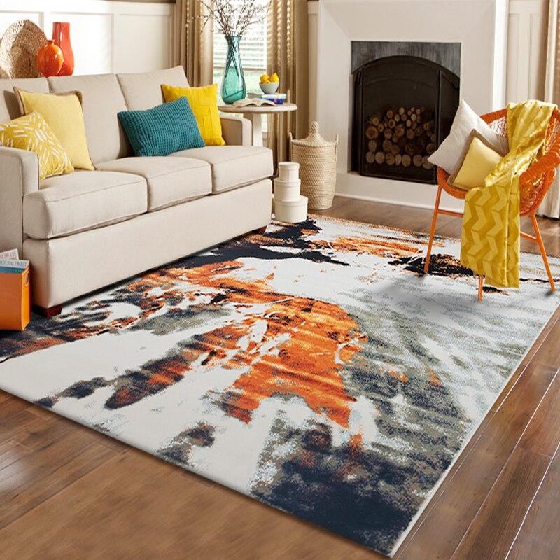 Nordique style abstrait Haute densité tapis tissé table basse de salon hôtel chambre couverture de chevet hôtel ascenseur tapis