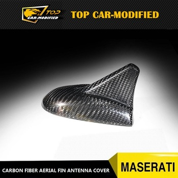 Free shipping 100% REAL CARBON FIBER ROOF SHARK FIN ANTENNA COVER for Maserati Quattroporte Ghibli