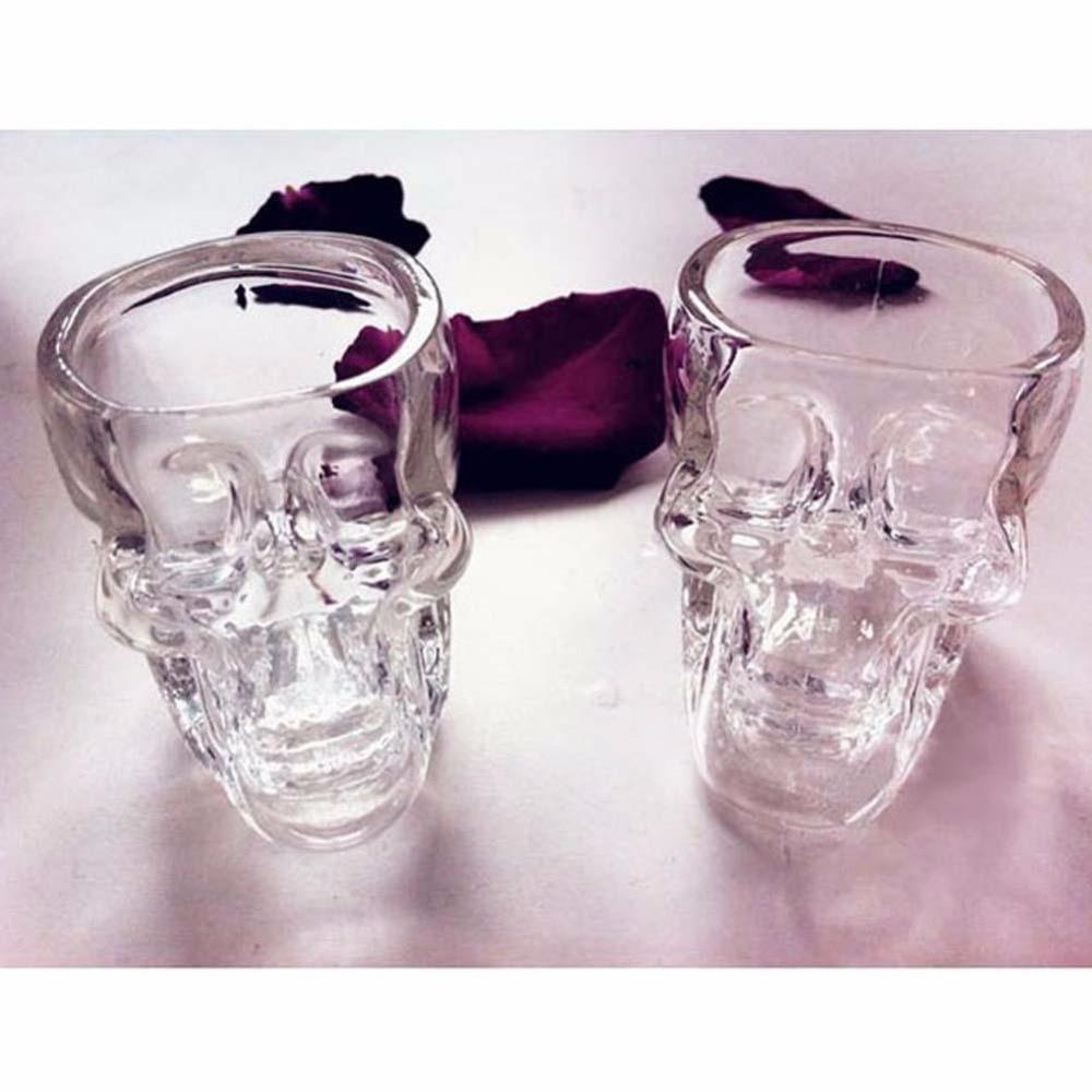2016 High Quality <font><b>Crystal</b></font> <font><b>Skull</b></font> <font><b>Head</b></font> <font><b>Vodka</b></font> <font><b>Whiskey</b></font> <font><b>Shot</b></font> Glass Cup Drinking Ware Home Bar