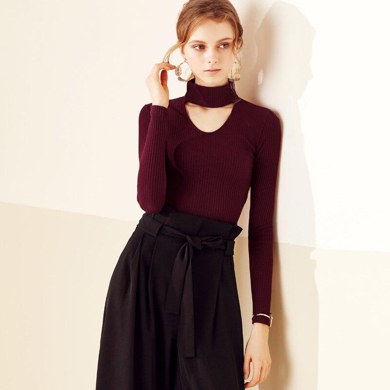 vintage halter neck plain cotton women winter sweater s