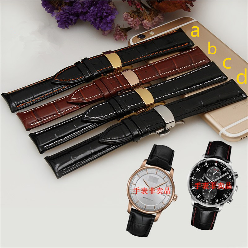 Hand-stitched Genuine Leather Watchband Brown/Black Calfskin Strap for MD M8600 M005 Watches 20mm 22mm Free Shipping Common Used | Watchbands