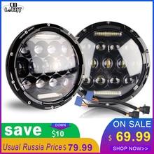 CO ıŞıK 7 Inç LED Farlar Açı Gözler Turn Singal 180 W Hi/Düşük 7