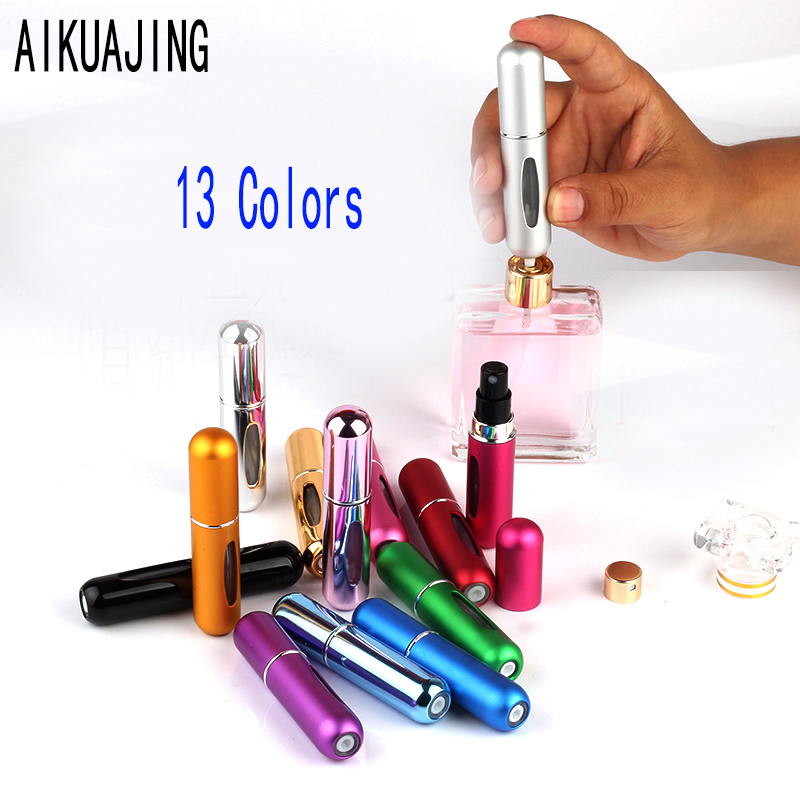 все цены на 5ml Portable Mini Aluminum Refillable Perfume Bottle With Spray Empty Cosmetic Containers With Atomizer For Traveler