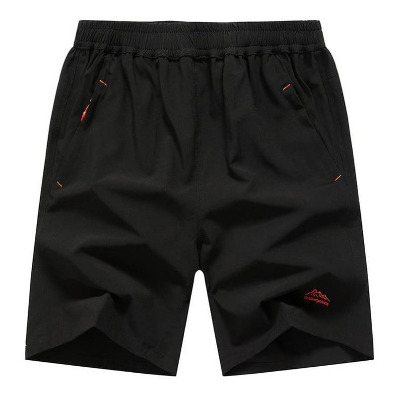 Mens Zip Pocket Shorts Loose Elastic Waist Summer Beach ...