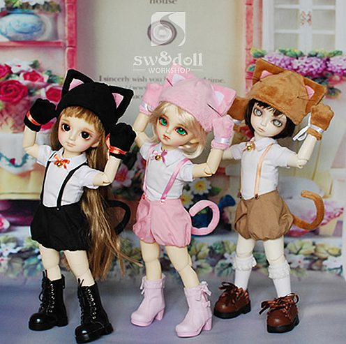 1/6 scale BJD accessories Cute cat dress set doll clothes for BJD/SD.Not included doll,shoes,wig and other accessories 16C0745