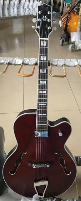 good vintage F hole jazz electric guitar