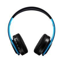 цена на Headset Bluetooth Headset Foldable Trendy Sports Card FM Wireless Headset black+blue