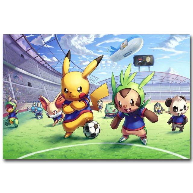Pikachu Pokemon Xy Lucu Art Kain Sutra Poster Cetak 13x20 24x36 Inch