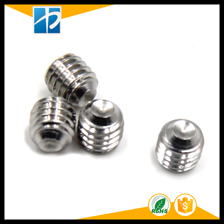 Купить с кэшбэком (50 pc/lot) M4,M5,M6 *L SUS304 DIN916 stainless steel hex socket cup point set  grub screw