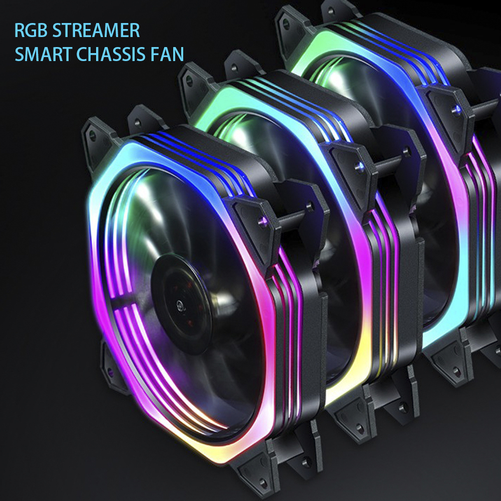 <font><b>120mm</b></font> 7 LED Ultra <font><b>Silent</b></font> Computer PC Case Cooling <font><b>Fan</b></font> 17 LEDs <font><b>12V</b></font> With Rubber <font><b>Quiet</b></font> Molex Connector 3 / 4Pin plug <font><b>fans</b></font> Cooler image