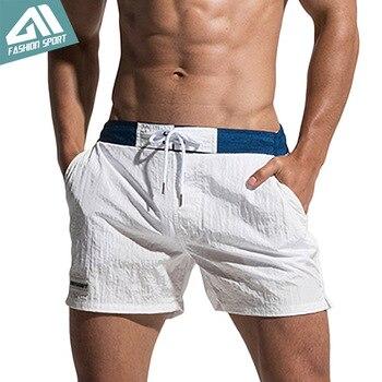 Desmiit Fast Dry Men's Board Shorts Summer Beach Surfing Man Swimming Shorts Athletic Sport Running Hybrid Home Shorts AM2041 1
