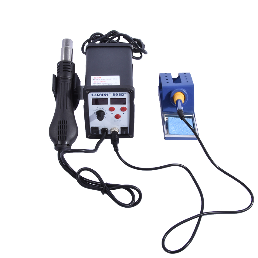 Rework Soldering Station Solder Iron with Heat Hot air Gun Electric Welder For Electronics Soldering soldering station heat soldering irons soldering stand welding electric soldering iron a bf gs110d 220v 110w