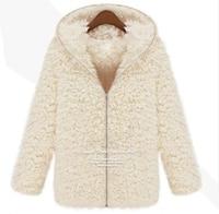 2018 Fashion New Winter Women Fluffy Shaggy Coat Faux Fur Zipper Outerwear Thick Hoodie High Quality Warm Coats