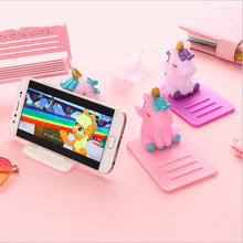 Unicorn desktop mobile phone holder bracket support shelf lazy artifact Korean cartoon cute portable creative ins student office