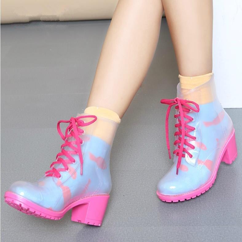 Aliexpress.com : Buy New Fashion Women High Heels Transparent PVC ...