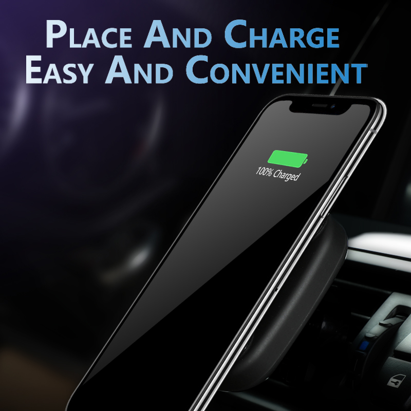 Qi Magnetic Car Wireless Charger Magnet for iPhone X XS 8 10W Fast Wireless Charging Phone Induction Charger for Samsung S8 S9 in Mobile Phone Chargers from Cellphones Telecommunications