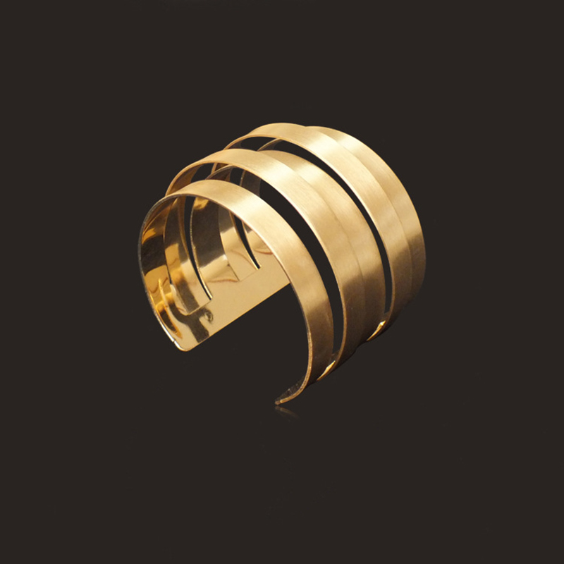 Fashion Geometric Wide Metal Bangle Hip Hop Punk Open Cuff Bangle Bracelet Men Women Irregular Jewelry Accessorie Wholesale in Bangles from Jewelry Accessories