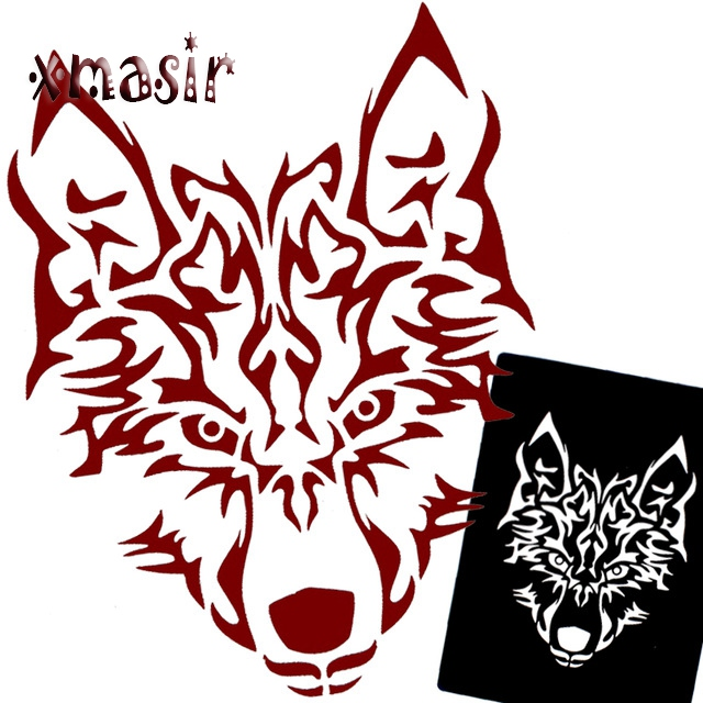 5pcs lot henna glitter airbrush tattoo stencil for men for Spray on tattoo stencils