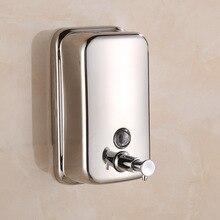 цена 500 800 1000ml Liquid Soap Dispenser Fashionable Stainless Steel Soap Dispenser Wall Mount Shower Soap Bottle Bathroom Washroom онлайн в 2017 году