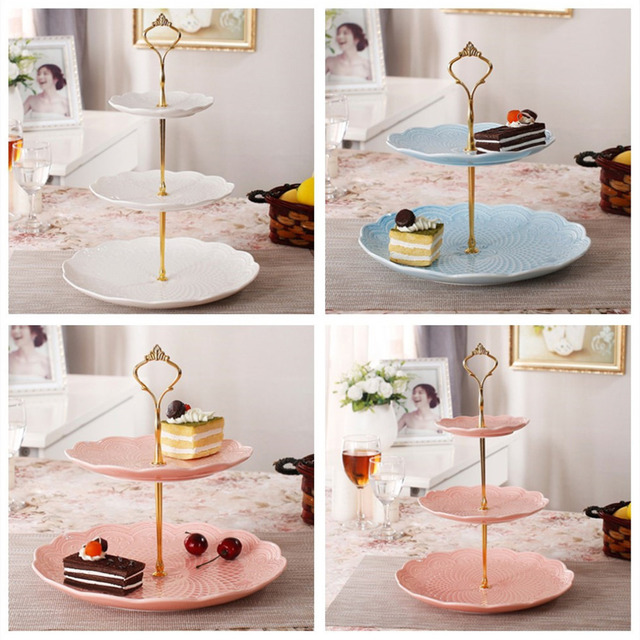 3 Tier bakeware Cake Plate Stand Handle Crown Fitting Metal Wedding Party Golden kitchen accessories cake  sc 1 st  AliExpress.com & 3 Tier bakeware Cake Plate Stand Handle Crown Fitting Metal Wedding ...
