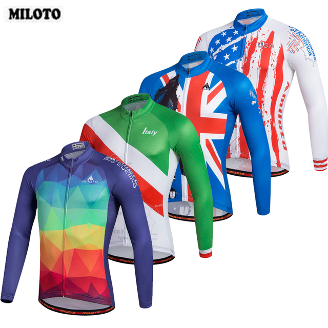9fcd2cd09 MILOTO Men s Sportwear Cycling Jerseys Long Sleeve Shirts Mountain Bike  Clothing Tops Bicycle Jacket Ropa Ciclismo Quick Dry