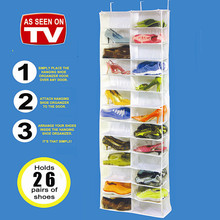 Hot Sales 1pcs Over the Door Hanging Shoe Organizer Storage Holder Storer For 26 Pairs Shoes, sold by manufacturer