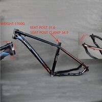 LUTU 2608 Aluminum Alloy Frame Bicycle Frame 27.5 inch Ultra light Frame Aluminum Alloy Mountain Bike Frame 26 inch