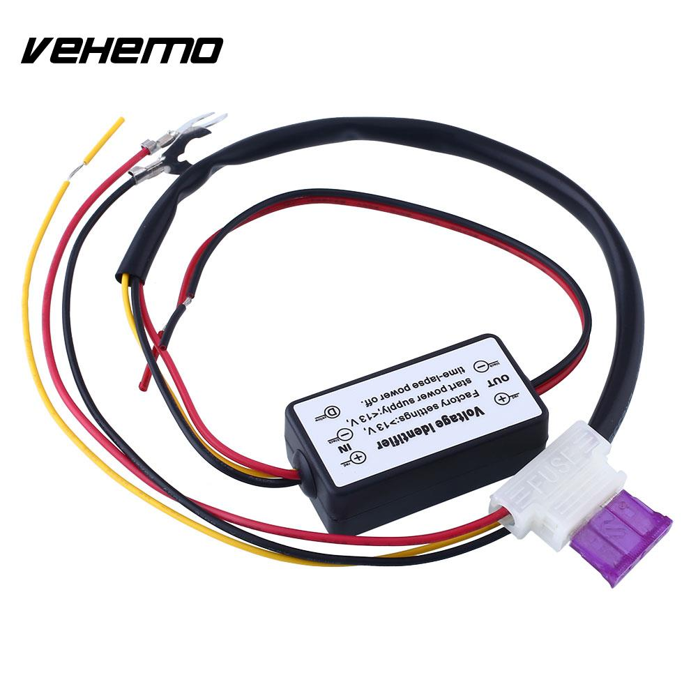 Vehemo Car LED Daytime Light Relay Harness Auto DRL Controll ON/OFF Automatic Switch Durable Controller DC12V 12v new car led daytime running light drl relay harness on off control switch abs plastic car led drl on off switch controller