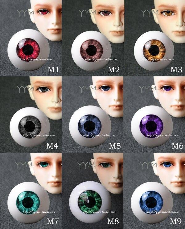 1 pair Bjd aesthetic acrylic light eyeball for 1/3 1/4 1/6 BJD doll DIY 8- - 26mm 1 3 1 4 1 6 1 8 1 12 bjd wigs fashion light gray fur wig bjd sd short wig for diy dollfie