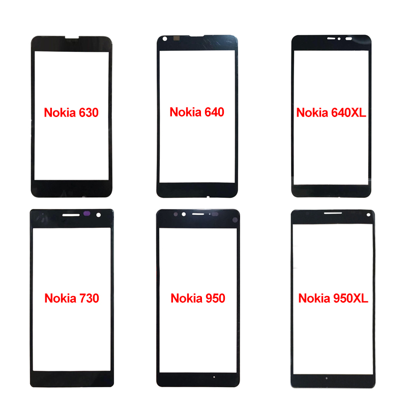 For <font><b>Nokia</b></font> Lumia 630 640 640XL 730 950 950XL <font><b>1320</b></font> 1520 Front Glass Lens Touch Screen LCD Outer Panel Replacement <font><b>Parts</b></font> image