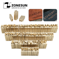ZONESUN Custom brass Leather stamp DIY Metal Alphabet Letters numbers symbol Stamps for stamping Craving Tool Brand iron Mold