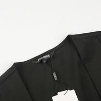 kissmilk 2018 Plus Size Solid Black Office Lady Women Blazers Notched Collar Zipper Long Sleeve Female Big Size Coats Outwears 5