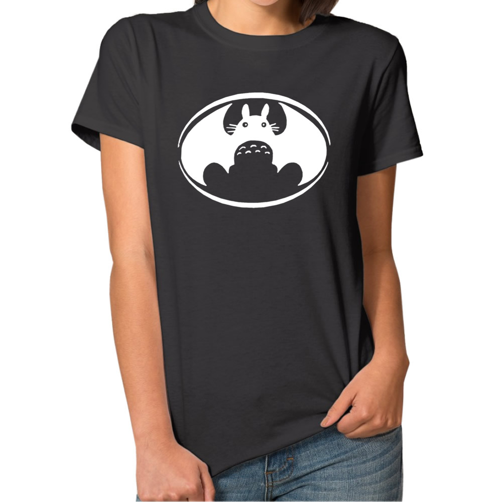 Design t shirt brand - Totoro T Shirt Vs Satman T Shirt Mashup Harajuku Style Anime Top Brand Clothing Men Women Graphics Design T Shirt