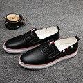 2016 Горячий Белый Квартиры Мужская Обувь Британской Моды мужская Повседневная Обувь Дышащая Кожа Пара обуви Корейской Марки * JFN-A3008
