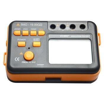 Probador de resistencia Aislamiento digital LCD megóhmetro medidor medidores medir resistencia 20G 1000 V/2500 V