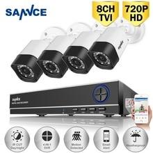SANNCE 8-КАНАЛЬНЫЙ 1080 P Выход HDMI DVR CCTV Камеры системы Безопасности 4 ШТ. TVI 720 P ИК Наружного Видеонаблюдения комплект камеры