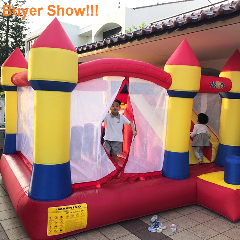 YARD Inflatable Trampolines Toys for Children Inflatable Bouncer Jumping Castle for Kid Sent with Free Ocean Balls for Children inflatable small bouncer for ocean balls indoor structures inflatable toys for kindergarten inflatable mini bouncer