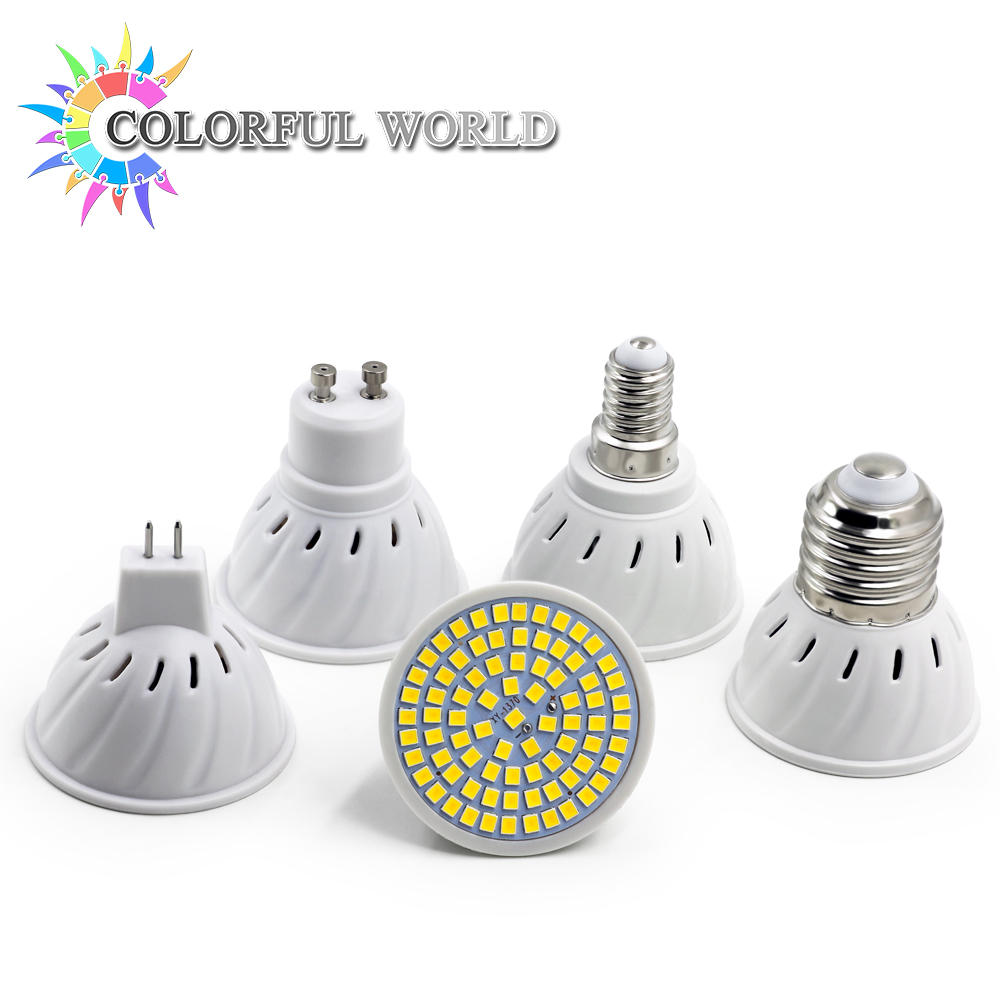 Super bright gu10 mr16 e14 e27 led spotlight 110v 220v 230v 240v led lamp light base